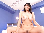 Hana Haruna Has a threesome and gets a doggy style fucking