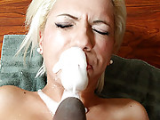 Huge black cock attacking a tight slut