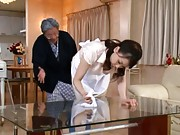 Erena Tachibana house keeper has big boobs fondled by house owner