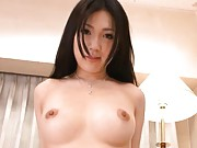 Japanese AV Model shows her hairy cunt and tits as she fucks