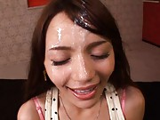 Rio Asian Teen licks and sucks fat boy´s cock for fun on a date