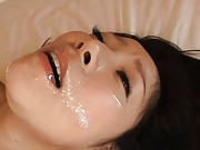 Ayane Asakura in bed is fucked till she can´t take it