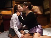 Japanese AV Model starts to fool around with a lesbian lady