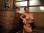 Japanese AV Model and other doll bath each other erotically