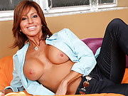 Stunning Anilos soccer mom masturbates while home alone