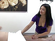 Hot ass asian babe gets caught in asian massage parlor fucking hot real fuck movie set