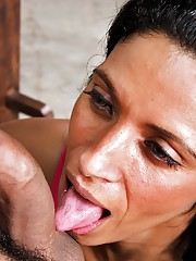 We found this hot ass brazilian babe working the truck stops in these hot anal fucking pics