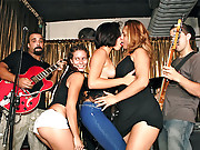 Check out this hot banging latina club party turn into a hot cock fucking party in these hot vids