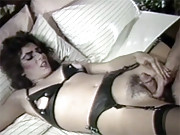 Retro sweetheart shagging and sucking a dude