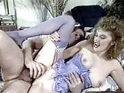A lucky dude banging a retro babe hardcore