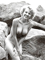 Hot sexy naked beauties outdoors in fifties