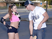 Sexy perky titty skate college babe gets her hot bush pounded hard after being tought a few tricks in these hot bid dong sucking and cum faced vids