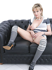 Thigh high socks and heels milf