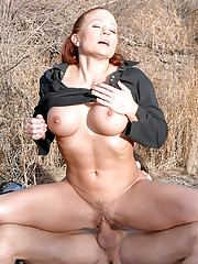 Big phat hairy bush babe joleen gets her sweet box rammed hard in these hot big bush cowboy cowgirl fucking pics