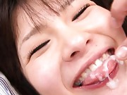 Saki Yuzumoto Pretty teen plays with her guy´s cock for a fuck