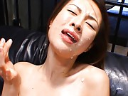 Nene Asian slut has boobs stimulated with lost of cum on face