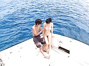 Ai Takeuchi gets clitoris rubbed on a boat, all naked