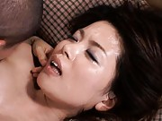 Miki Sato juicy tits shaking as her vagina is bonked a lot