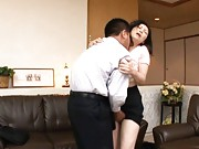 Maya Sawamura Asian doll gets big tits fondled while on a date