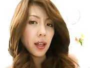 Misa Yuki Asian model is shirtless and masturbating in the office