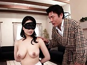 Miki Sato Hot Asian chick is tied to a chair and blindfolded