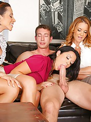 4 hot fucking milfs double suck a hard cock then get fucked hard in this cock sucking teaching class reality fuck pics and big hd movie