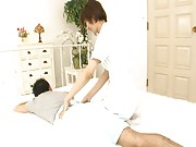Miriya Hazuki makes a man horny after a massage