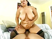 Busty fatty loves to fuck on top