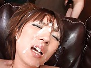 Tsubasa Amami Asian fucked  with sex toys with lots of men around