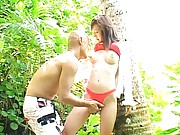 Mako Katase Lovely Asian doll makes out with her boyfriend