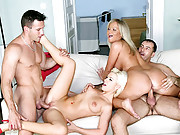 2 super hot ass thick euro babes pounded hard in this cumfaced threesome group sex movie