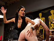 Gia Dimarco milks prostate till slaveboy cums without her ever touching his cock!