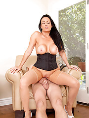 Busty milf Vanilla Deville gets nailed deep by her horny husband