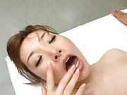 Miho Ashina Asian in wild kisses with her patient in hospital