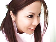 Manaka Kazuki Asian is a hot nurse that strokes patients´ cocks