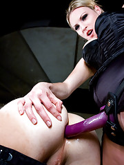 Slave boy licks his come off Mistress Harmony Rose