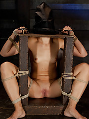 Dylan is bound tightly, and made to face her biggest fears. Extreme bondage makes this slut work harder to make any progress at all.