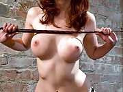 Mistress Kendra dominates slave boy and slut girl