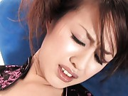Ami Matsuda Asian has scanty stuck in her hairy cum dumpster