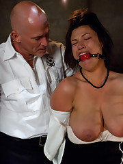 Busty women dominated and fucked in bondage by border patrol.