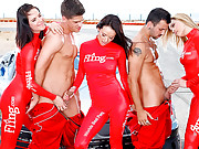 Alexis texas gang banged on the race car track hot 5some fucking girls cumfaced reality sex movies