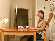 Yua Kisaki Hot chick is told to play with the guy´s cock