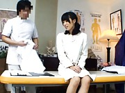 Japanese AV Model goes to the doctor for a pussy exam