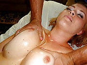 Horny slut gets a sexy massage with full release