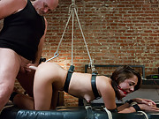 Adulteress blackmailed and dominated in bondage with anal sex.
