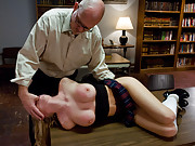 Madison Scott punished and fucked in bondage by teacher.