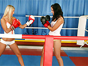 Two boxing lesbians love fucking and fighting