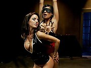 Two hot hard bodies indulge in a day of lesbian BDSM and hardcore fetish lesbian sex.