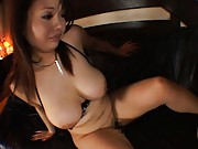 Sakura Asian busty rubs boner with melons before she is drilled