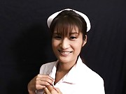 Miyo Kagura Naughty nurse smiles and enjoys her patient